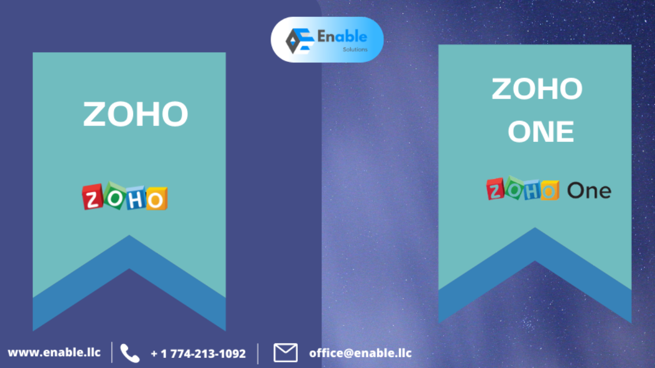 ZOHO ONE VS ZOHO WHAT IS THE DIFFERENCE?